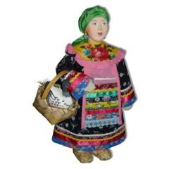 Кукла авторская Галина Масленникова СКМД-1 Фрося с гусем