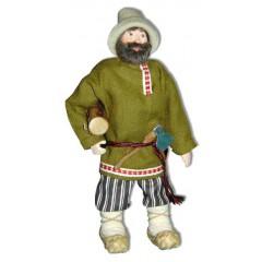 Кукла авторская Галина Масленникова А2-39 Мужик с бревном