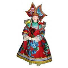 Кукла авторская Галина Масленникова СКБД Русский скоморох женский костюм