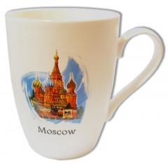 Кружка 065-7-19-IL Я люблю Москву, белая