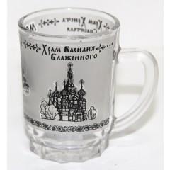 """Кружка 068-SM-17 мини стекло, """"Москва"""", два цвета"""