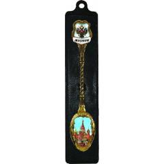 """Ложка сувенирная 117GBI-21 эмаль витая, """"Москва. Империал. Храм Христа Спасителя"""""""