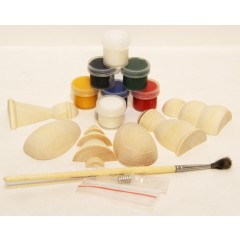 Зимний, набор для творчества, (магниты, краски, кисточка в упаковке)