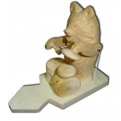 Богородская игрушка Мишка барабанщик
