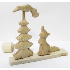 Богородская игрушка Ворона и лиса