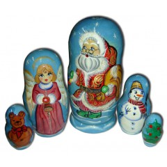 Матрешка 5 мест Дед мороз В