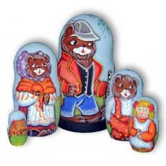 Матрешка 5 мест Три медведя акрил