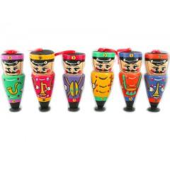 Новый Год и Рождество елочная игрушка набор Гусары 6 предметов в коробке
