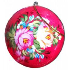 Новый Год и Рождество елочная игрушка шар мал новогодний в стиле жостово, 60