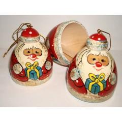 Новый Год и Рождество елочная игрушка Колокольчик Дед Мороз