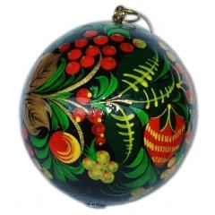 Новый Год и Рождество елочная игрушка шар новогодний в стиле хохлома, 80
