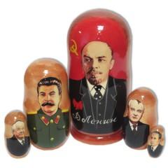 Матрешка политические лидеры Ленин
