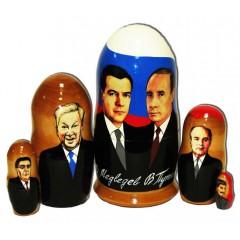 Матрешка политические лидеры Путин и Медведев