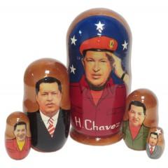 Матрешка политические лидеры Уго Чавес