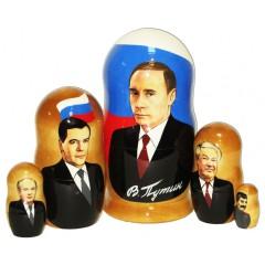 Матрешка политические лидеры Путин 5 мест.