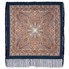 Платок Павловопосадский с шелковой бахромой 89 x 89 681-13