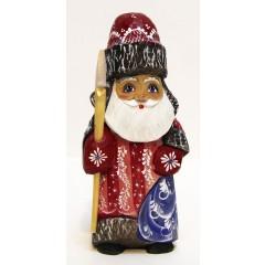 Новый Год и Рождество резная деревянная игрушка Дед Мороз резной ПГ