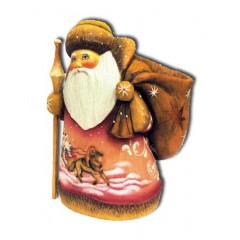 Новый Год и Рождество Дед Мороз с коричневым мешком, подставка для ручек из полистоуна