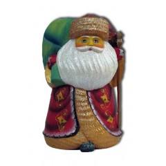 Новый Год и Рождество Дед Мороз с  мешком, подставка для ручек из полистоуна