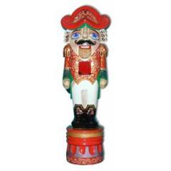 Новый Год и Рождество резная деревянная игрушка Щелкунчик бол. акрил