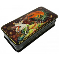 Шкатулка лаковая с элементами ручной росписи Жар-птица, пенал