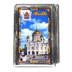 """Книга 04-21 блокнот мет. """"Москва. Храм Христа Спасителя"""" с ручкой"""