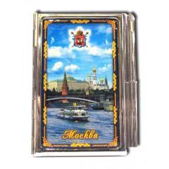 """Книга 04-17 блокнот мет. """"Москва. Панорама"""" с ручкой"""