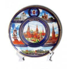 "Тарелка 15-K6-20 коллаж D15 фарфор ""Москва. Коллаж"""