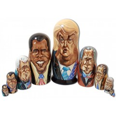 Матрешка 10 мест Дональд Трамп, американские президенты