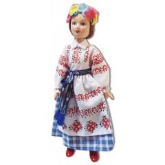 Кукла фарфоровая Белорусский наряд, Витебская Губерния