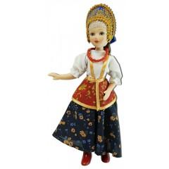 Кукла фарфоровая праздничный летний костюм, Ярославская Губерния