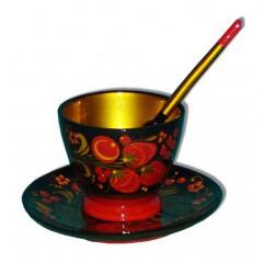 Хохлома пищевая Комплект для кофе 3 предмета
