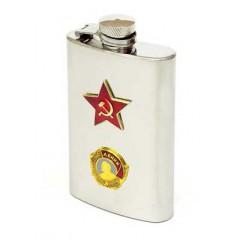 Фляжка металлическая Ленин Красная Звезда узкая металл