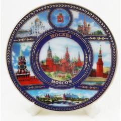 """Магнит керамический 026-7K6-20 тарелка D7 К6 """"Москва"""" фарф. с подставкой"""