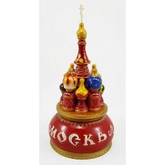 Музыкальный собор - макет Москва, красный, 21 см., невращающийся, Храм Василия Блаженного