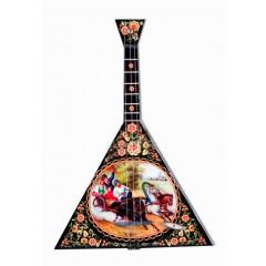 Музыкальный инструмент балалайка Русская Тройка, музыкальная шарманка
