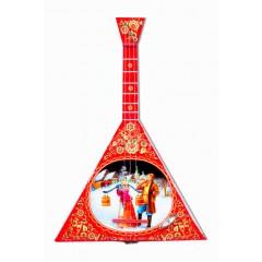Музыкальный инструмент балалайка Парочка у колодца, музыкальная шарманка