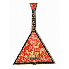 Музыкальный инструмент балалайка Хохлома, музыкальная шарманка