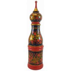 Хохлома сувенирная футляр для бутылки 0.5 л