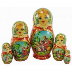 Матрешка 5 мест Репка, Афанасьев