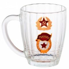 Посуда пивная кружка, Гвардия, солдатская кокарда