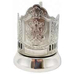 Подстаканник Герб России, никелированный