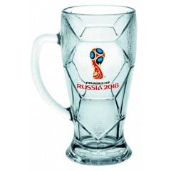 Чемпионат мира по футболу 2018 ЧМ2018 Кружка стеклянная для пива, Лига, 500 мл.