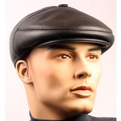 Головной убор шапка меховая кожаная кепка, мех