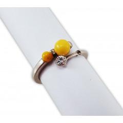 Янтарь кольцо Бусинки