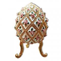 Копия Фаберже 4804 яйцо шкатулка, белое
