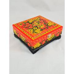 Хохлома сувенирная Шкатулка 17 х 17 х 6 см