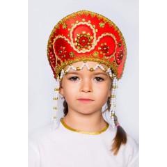 Русский народный костюм КОКОШНИКИ Кокошник Алина АЛИ-00-01-00, 11 см