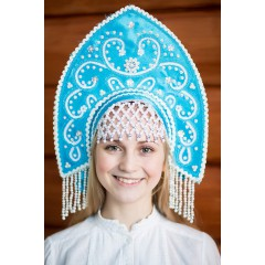Русский народный костюм КОКОШНИКИ Кокошник Анна АНН-00-04-00, 16 см