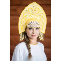 Русский народный костюм КОКОШНИКИ Кокошник Анна АНН-00-09-00, 16 см